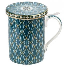 Tisanière MAROC Turquoise - avec Filtre inox et Couvercle