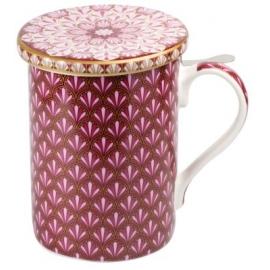 Tisanière MAROC Rose - avec Filtre inox et Couvercle